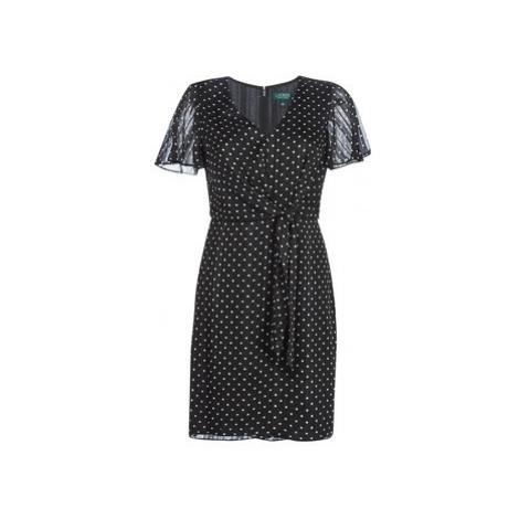 Lauren Ralph Lauren POLKA DOT-SHORT SLEEVE-DAY DRESS Černá