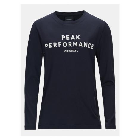 Tričko Peak Performance Jr Orig Ls T-Shirt - Modrá