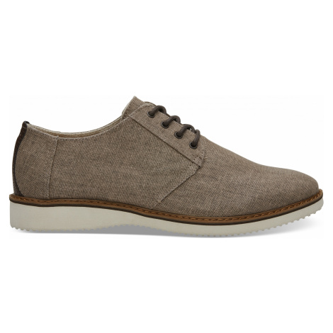 TOFFEE COATED LINEN MN PRES DRLACE Toms