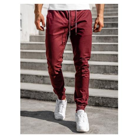 Vínové pánské jogger kalhoty Bolf KA951 M.SARA