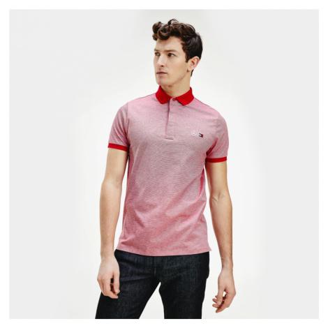 Tommy Hilfiger pánské červené pruhované polo tričko MB