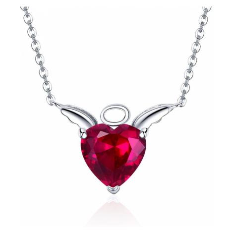 OLIVIE Stříbrný náhrdelník ANDĚL a ĎÁBEL 3372