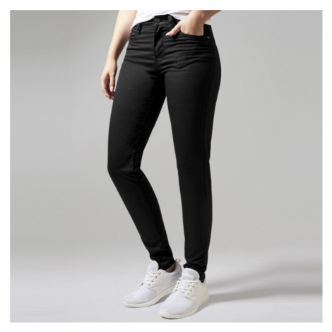 Urban Classics Ladies Skinny Pants black