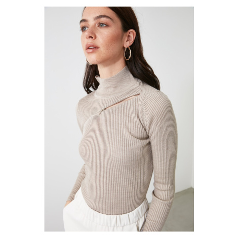 Dámsky svetřík Trendyol Zip detailed