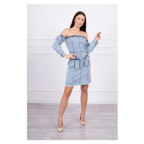 Off-the-shoulder stretch denim dress S/M-L/XL Kesi