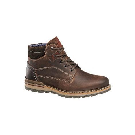 Hnědá kožená šněrovací obuv AM SHOE