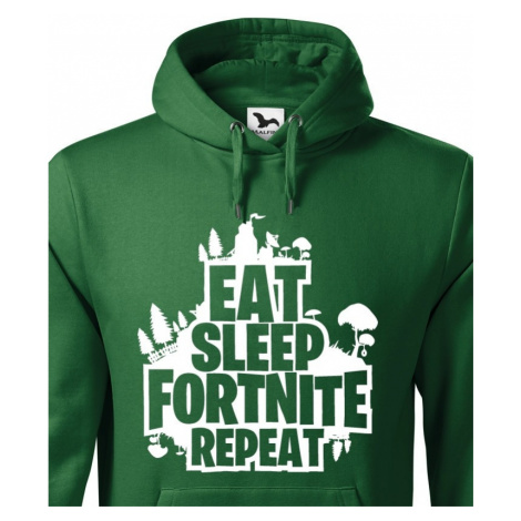 Pánská mikina Eat Sleep Fortnite Repeat BezvaTriko