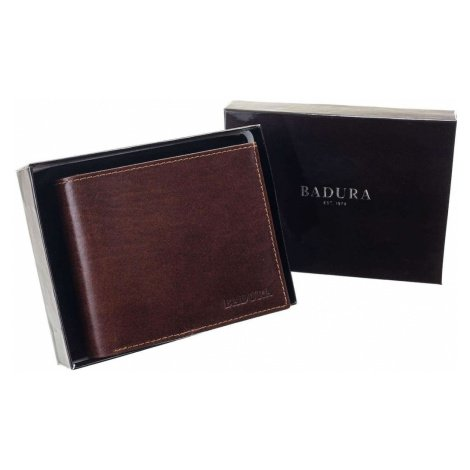 BADURA Brown genuine leather men´s wallet Fashionhunters