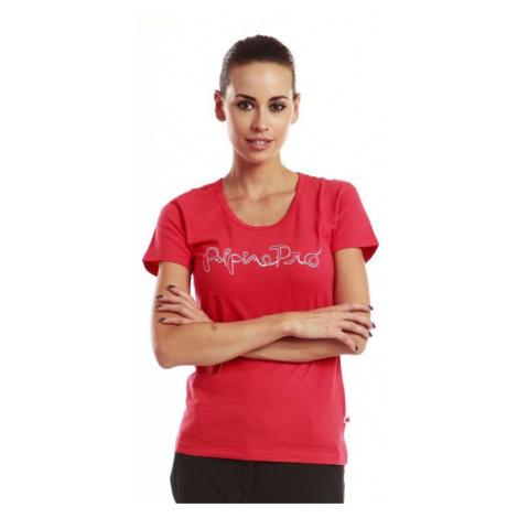 Dámské tričko Alpine Pro PROTEO - červená
