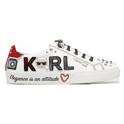 Bílé kožené tenisky - KARL LAGERFELD