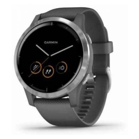 Sportovní smart GPS hodinky Garmin vívoactive 4 Shadow Grey / Silver