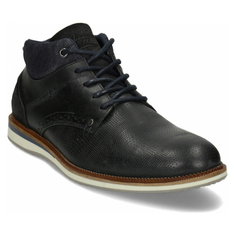 Kožená pánská černá kotníčková obuv Baťa
