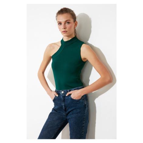 Trendyol Green Cut Out Detailed Knitwear Blouse