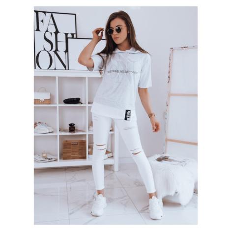 Women's oversize T-shirt EVERYWHERE light gray Dstreet RY1721