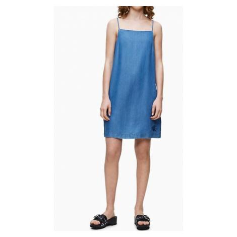 Calvin Klein Calvin Klein dámské denim šaty Indigo Tencel Slip Dress