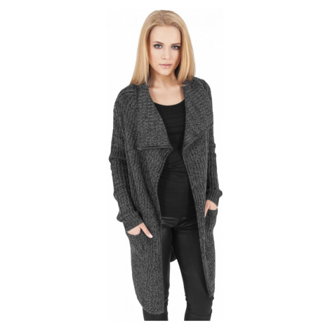 Ladies Knitted Long Cape - charcoal Urban Classics