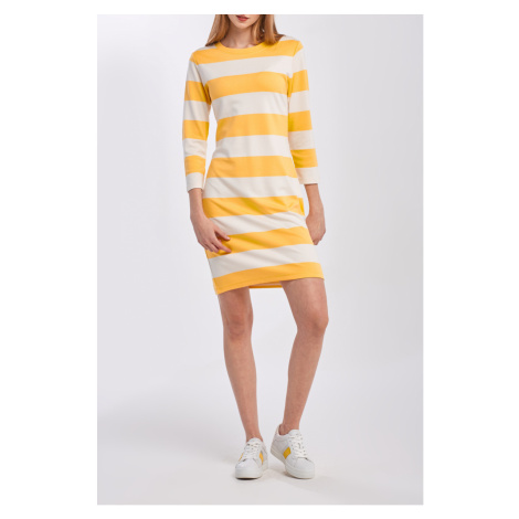 ŠATY GANT D2. BARSTRIPED JERSEY DRESS