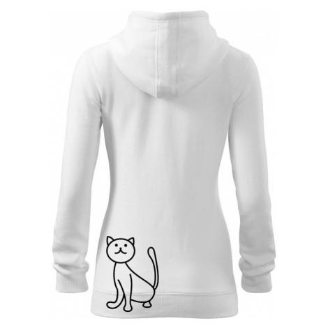 Kočka kouká - Dámská mikina trendy zippeer s kapucí