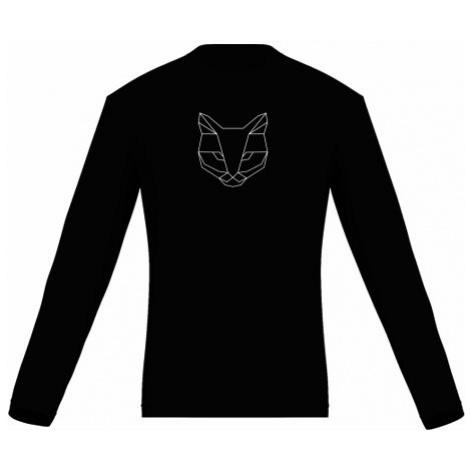 Pánské tričko dlouhý rukáv Cat polygon