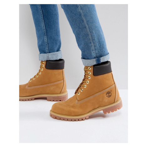 Timberland classic 6 inch premium boots in wheat-Brown
