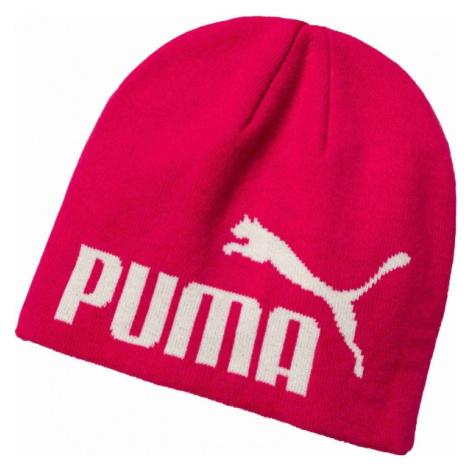 Puma ESS BIG CAT BEANIE JNR růžová - Juniorská zimní čepice