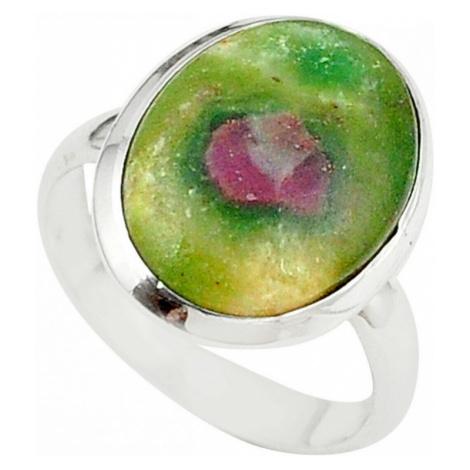 AutorskeSperky.com - Stříbrný prsten s rubínem ve fuchsitu - S2885