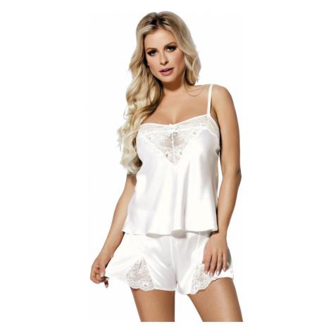 DKaren Bílé saténové pyžamo Zala