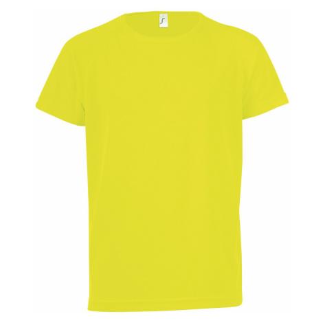 SOĽS Dětské funkční triko SPORTY KIDS 01166306 Neon yellow SOL'S