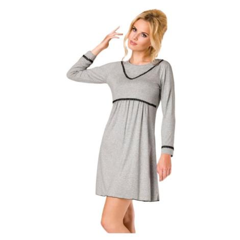Luxusní dámská noční košile Chloe šedá Passion