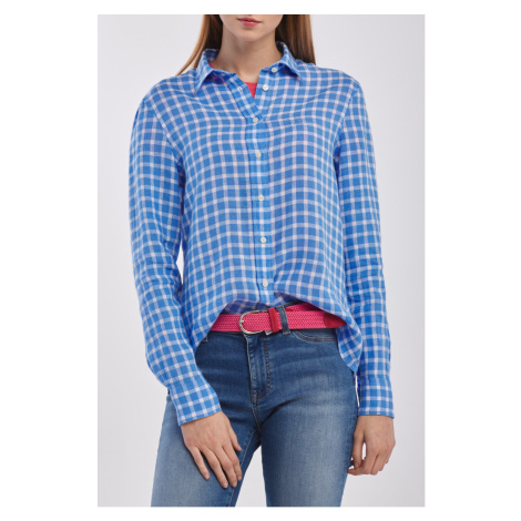 KOŠILE GANT THE LINEN CHAMBRAY GINGHAM SHIRT