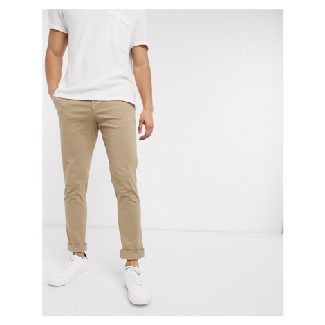 Selected Homme skinny fit stretch chinos in sand-Beige