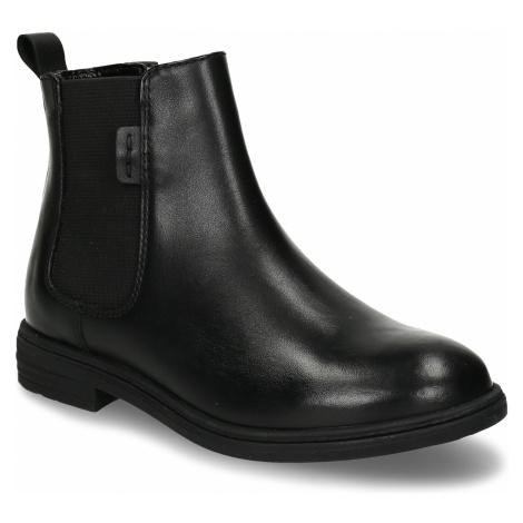 Černá dívčí kožená Chelsea obuv Baťa