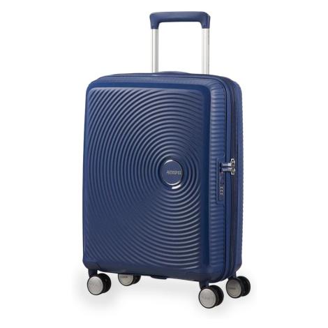 American Tourister Kabinový cestovní kufr Soundbox Spinner EXP 32G 35,5/41 l - tmavě modrá