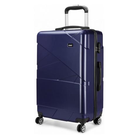 Tmavě modrý cestovní prostorný velký kufr Jamin Lulu Bags