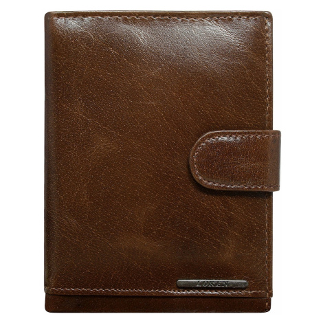 Men´s brown leather wallet with a clasp Fashionhunters
