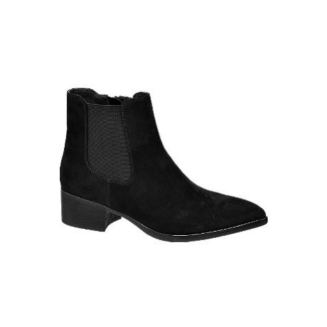 Černá obuv chelsea Graceland se zipem
