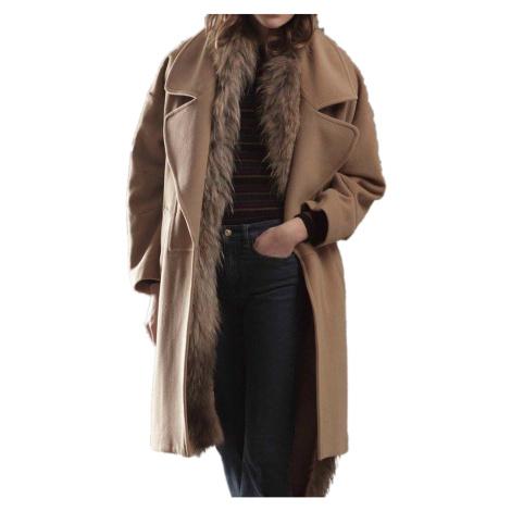 Béžový vlněný kabát CYCLE JEANS