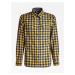 Guess Guess pánská kostkovaná modro žlutá košile