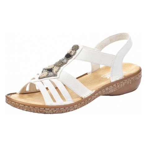 RIEKER Páskové sandály bílá