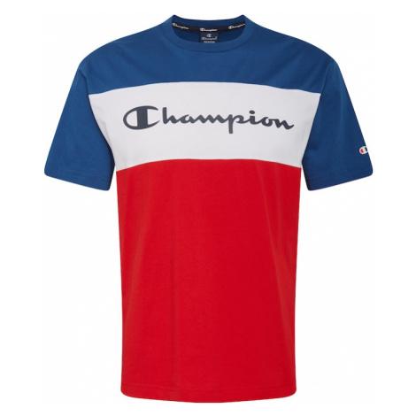 Champion Authentic Athletic Apparel Tričko bílá / tmavě modrá / červená