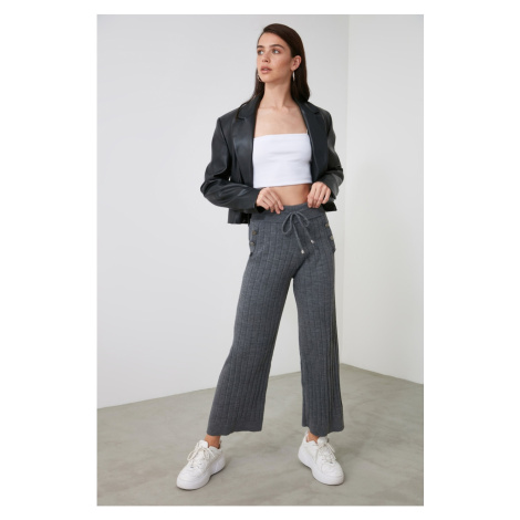 Trendyol Knitwear Pants with Anthracite Button Detail