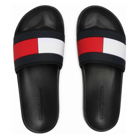 Tommy Hilfiger pánské černé pantofle