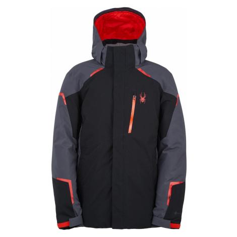 Zimní bunda Spyder M Copper GTX Jacket - černá/šedá/červená