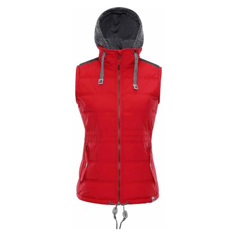 Dámská vesta Alpine Pro JARVISA - červená