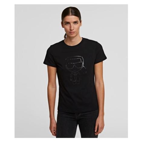 Tričko Karl Lagerfeld Ikonik Karl Outline T-Shirt - Černá