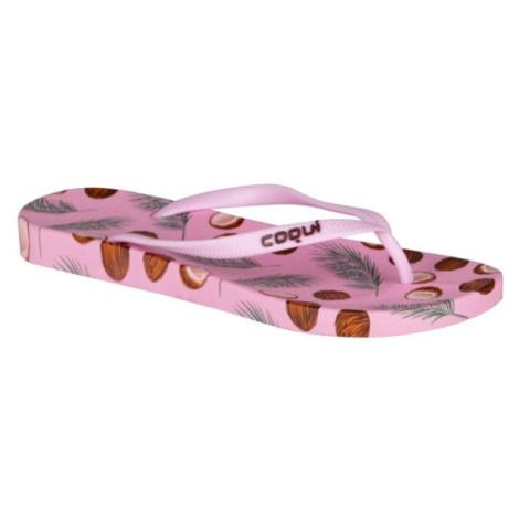 Coqui KAJA PRINTED růžová - Dámské žabky