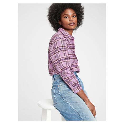 GAP fialová kostkovaná dámská košile