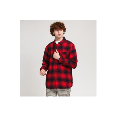 Urban Classics Oversized Checked Grunde Shirt červená / černá