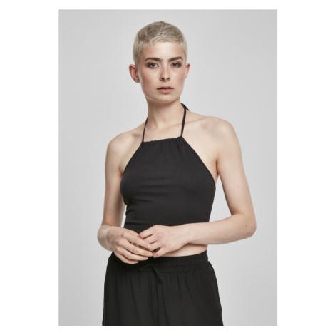 Ladies Cropped Neckholder Top - black Urban Classics