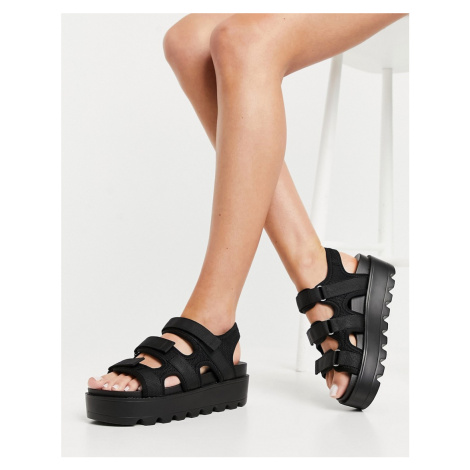 Koi Footwear Redin vegan sporty chunky sandals in black